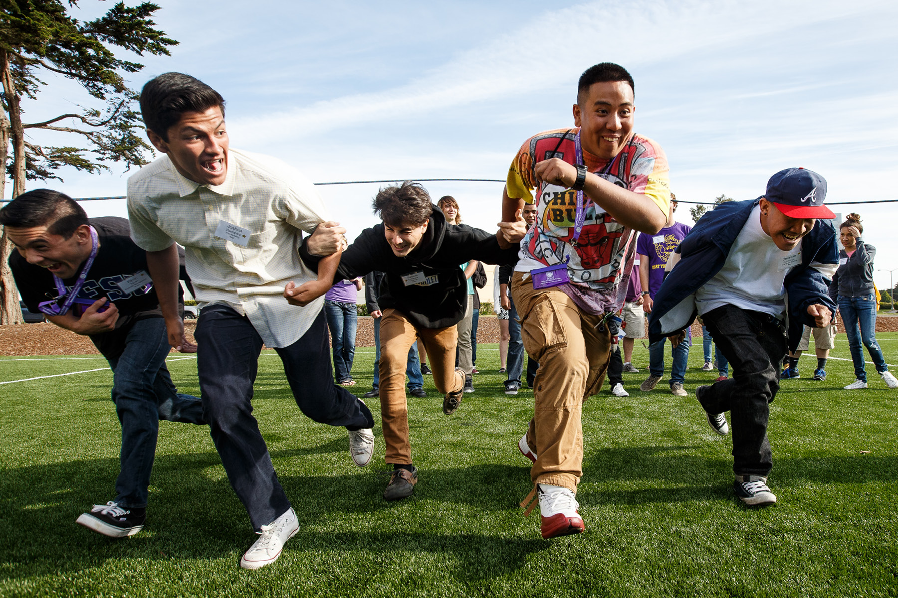 Students in a foot race
